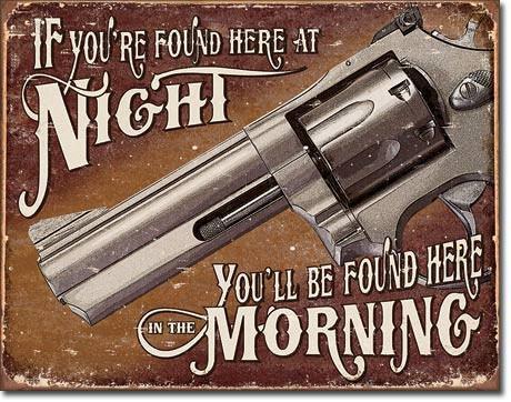 Home Protection Gun Sign