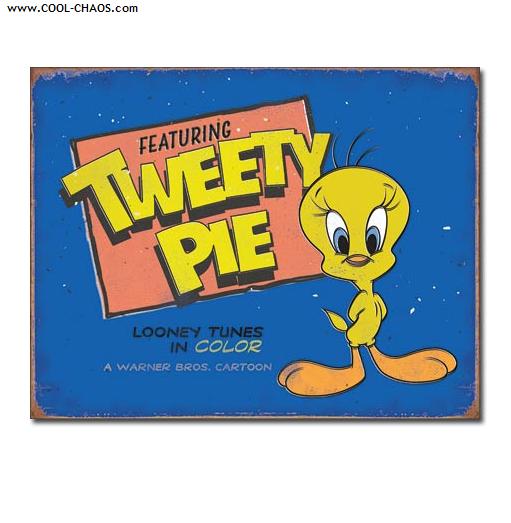 Tweety Pie Sign / Looney Tunes Distressed replica 'Tweety Bird' Tin Sign