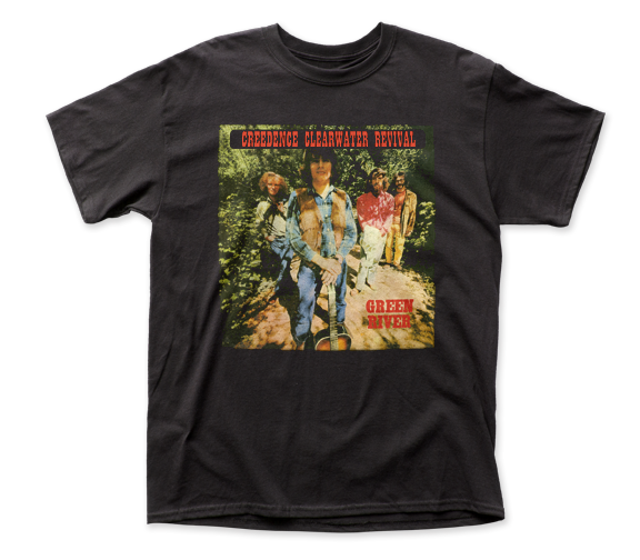 Creedence Clearwater Revival T-Shirt / CCR Green Water Throwback Retro Rock Tee