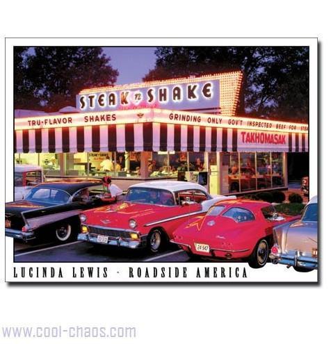 Steak n Shake Vintage Car Sign