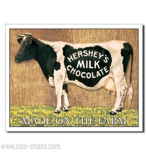 Hersey's Chocolate Milk Cow Sign