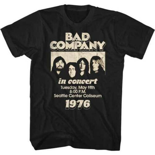 BAD COMPANY T-SHIRT / '76 SEATTLE CENTER Concert Tee Rock Tee