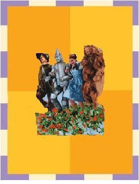 The Wizard of Oz Poppy Field Friends Magnet w/ Greeting Card