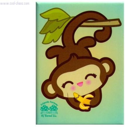 Banana + Monkey Best Friends Forever Magnet
