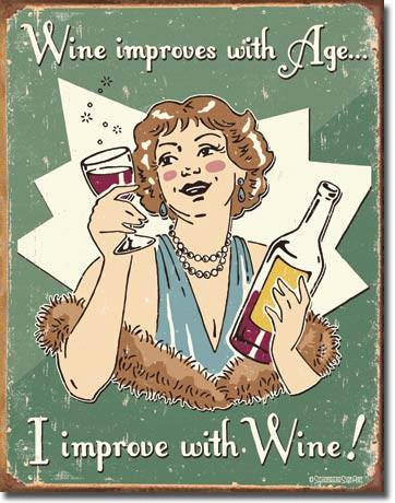 Schonberg Ladies Love Wine Tin Sign