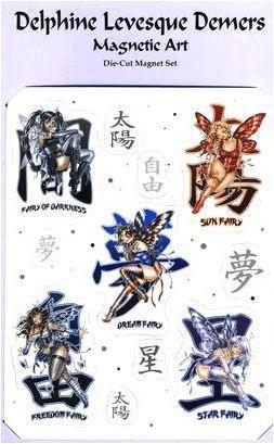 Anime Kanji Fairy Magnets Collection #1