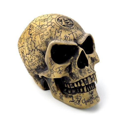 Alchemy Gothic Omega Skull Statue