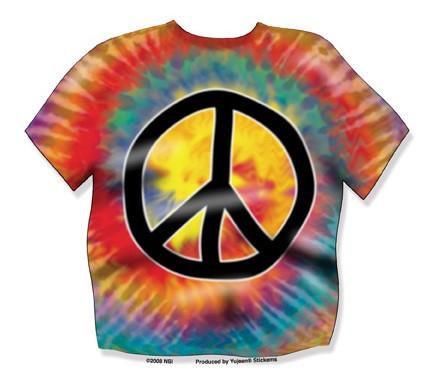Rainbow Tie Dye Peace Sticker
