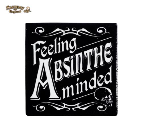 Absinthe Minded Gothic Coaster / Ceramic Gothic Coaster by Alchemy Gothic 1977