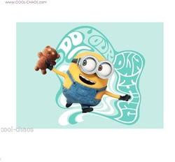 Do your own thing Magnet-Bob & Teddy Bear Minion Magnet