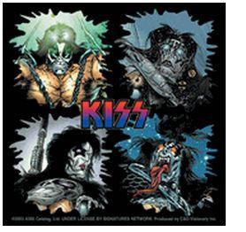 KISS Comics Collage Super Heroes KISS Sticker