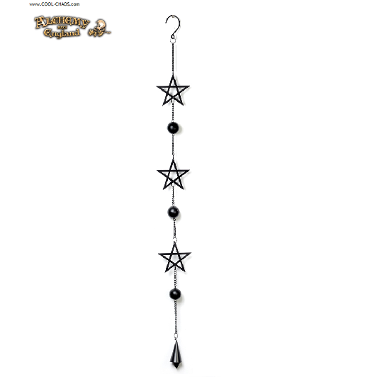 Mystical Pentagram Wind Chime by Alchemy Gothic 1977, New for 2019