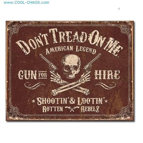 American Legend Rebel Don't Tread on Me USA Sign