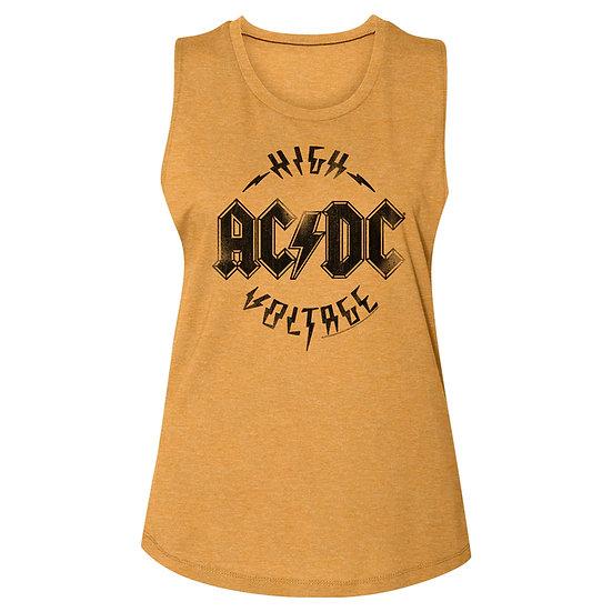 AC/DC ROCK Tee / AC/DC High Voltage Juniors Muscle Tee Tank Top