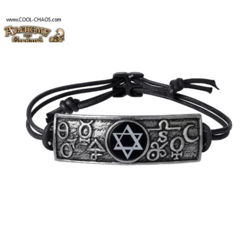 Principia Alchemy Mystica Pewter Talisman Amulet Bracelet by Alchemy Gothic 1977