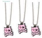 Girly Pirate Pink Kitty Cat Necklaces