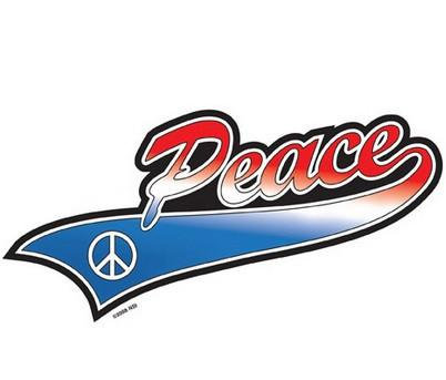 Patriotic Sports Peace Sticker