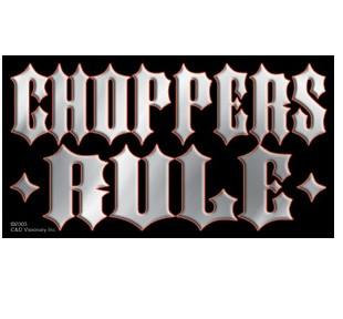 Choppers Rule Mini Bumper Sticker