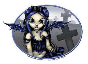 Graveyard Gothling Blue Fairy Sticker