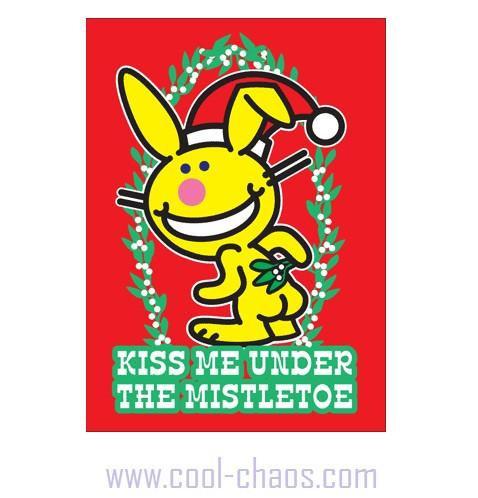 Mistletoe Happy Bunny Magnet