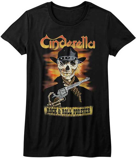 Cinderella T-Shirt / 80s Metal Rock n Roll Forever Juniors Tee