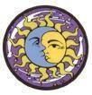 Sun Moon Metal Pin