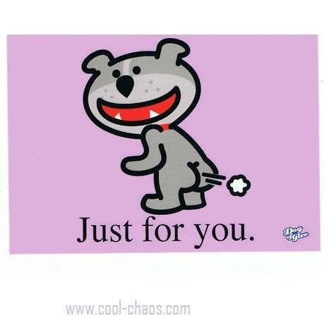 Dog of Glee Fart Postcard