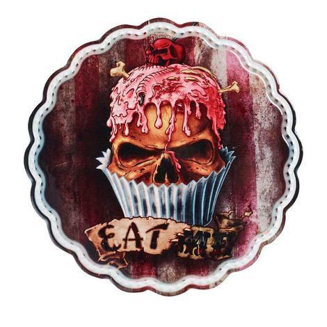 Eat Me Skull Cupcake Trivet by Alchemy Gothic 1977 / Ceramic Trivet