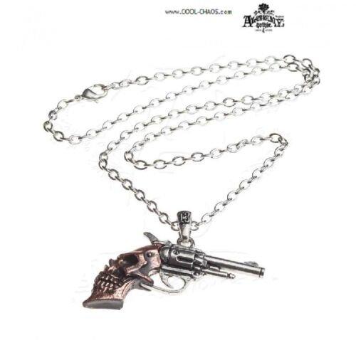 Revolver Necklace / Alchemy Gothic 1977 Pendant