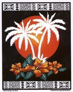 Palms Paradise Tiki Hut View Sticker