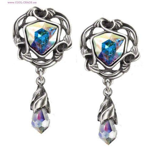Swarovski Crystal Tears from Heaven Earrings by Alchemy Gothic 1977