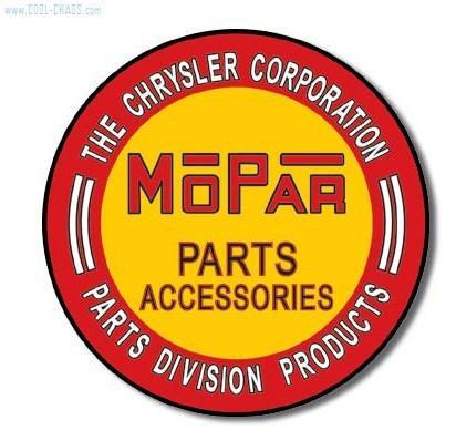 Round Mopar Sign