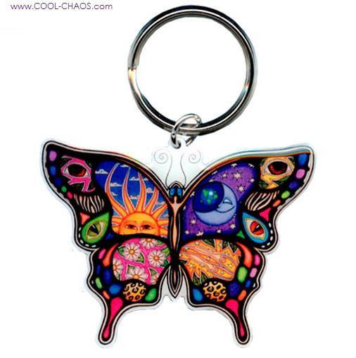 Celestial Butterfly Keychain