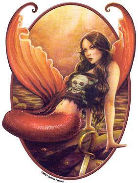 Rocker Chick Mermaid Sticker