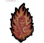 Distressed Flames Reaper Sons of Anarchy Sticker