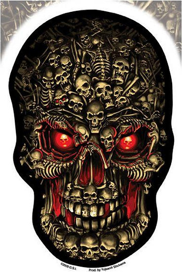 Graveyard of Souls Hell Skull Sticker