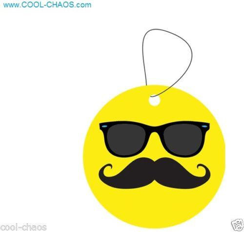 Smiley Mustache Air Freshener