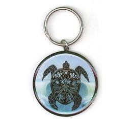 Tribal Sea Turtle Keychain