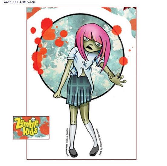 Girl Zombie Kid Sticker