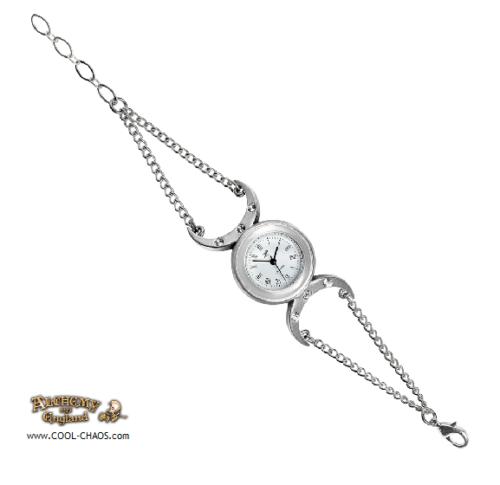 Crystal Crescent Moon Goddess Bracelet Watch by Alchemy Gothic 1977