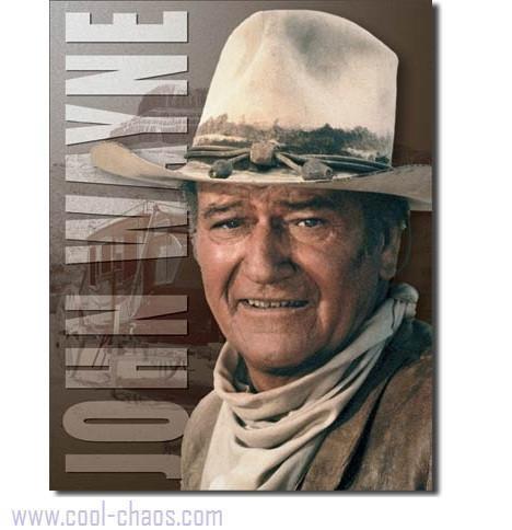 Stagecoach Cowboy John Wayne Tin Sign