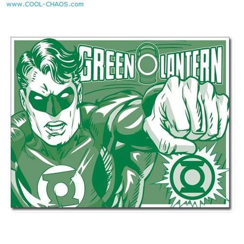 Retro Green Lantern Sign