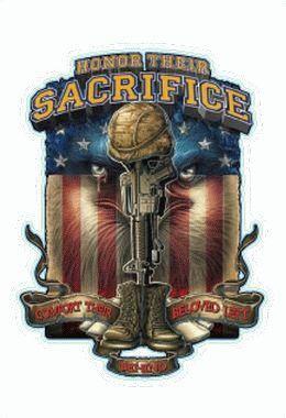 Remember Honor Veterans Sticker