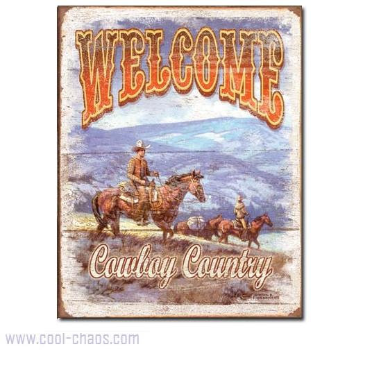 Cowboy Country Welcome Sign