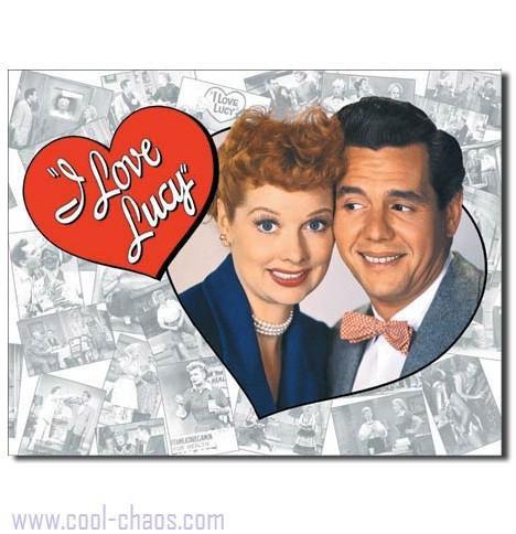 Ricky + Lucy Ricardo Tin Sign