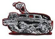 Burnout Hot Rod Hearse Coffin Mini Patch