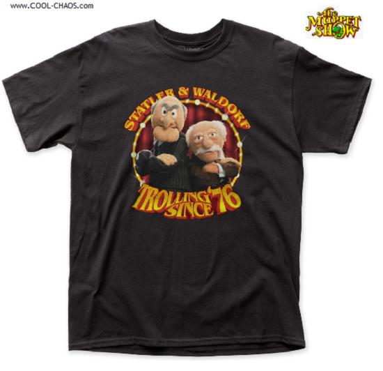 Muppets Statler and Waldorf T-Shirt / Trollin' Since '76! Muppet Show Tee