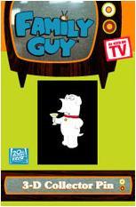 Family Guy Brian Dog Martini Button