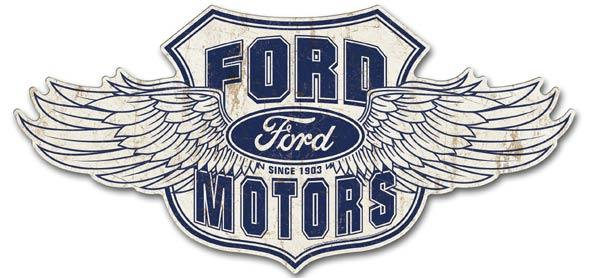 Ford Wings Ford Motors Tin Sign  31 lnches wide