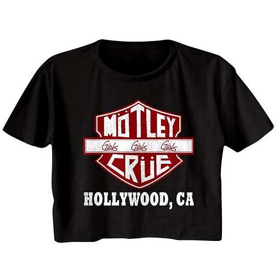Motley Crue Hollywood Half Shirt / Girls Girls Girls Tour 80's Crop Top